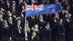 The New Zealand team at the Glasgow Commonwealth Games.