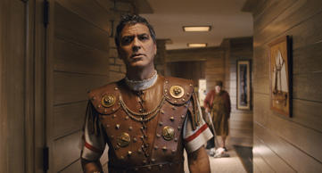 "GEORGE CLOONEY stars as Baird Whitlock in ""Hail, Caesar!."" Four-time Oscar®-winning filmmakers Joel and Ethan Coen produce and direct the all-star comedy set during the latter years of Hollywood's Golden Age."