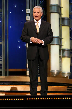 Alex Trebek during a taping of Celebrity Jeopardy at Radio City Music Hall on October 08,2006 in New York City.