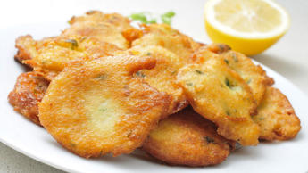 Even though these lipsmacking fritters are fried, they're not a stodgy or calorie-laden food. Dried salt cod is soaked overnight then mixed with vegetables in a batter before being cooked. They're traditionally served with ackee, a type of fruit related to the lychee.Per fritter: 127 cals, 2g fat (generic recipe)