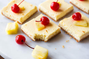 "<p>The best news we've heard so far this year is that these bars are only 130 calories.</p><p>Get the recipe from <a href=""http://www.delish.com/cooking/recipe-ideas/a45564/skinny-pineapple-cheesecake-bars/"">Delish</a>.<br></p>"