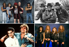 From Run DMC to Guns 'N Roses. From Wham! to Metallica. Take a look at what your favorite band were doing in the roaring '80s and what they are up to now.