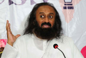 File: Art of Living founder Sri Sri Ravi Shankar addresses media on November 22, 2015 in Bhopal, India.