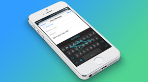 Swiftkey keyboard on an Apple iPhone
