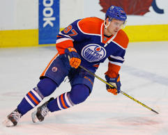 Edmonton Oilers forward Connor McDavid (97) skates during warmup against the Columbus Blue Jackets at Rexall Place.