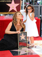 Mariah Carey with her daughter Monroe