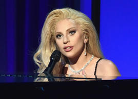 CENTURY CITY, CA - JANUARY 23: Actress/recording artist Lady Gaga performs onstage at the 27th Annual Producers Guild Of America Awards at the Hyatt Regency Century Plaza on January 23, 2016 in Century City, California.
