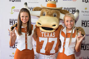 Texas Longhorns Cheerleaders arrive at the second Mack, Jack & McConaughey chari...