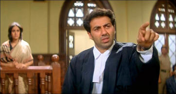 Damini: In 1993, Sunny Deol was seen in Damini, which went on to be a hit at the box office. The film which also featured Meenakshi Sheshadri, Rishi Kapoor, Vijayendra Ghatge, Rohini Hattangadi, Amrish Puri, Paresh Rawal and Tinu Anand was based on a woman who fights against the society for justice. Sunny Deol played the role of a lawyer in the film and this film got him his second National Award. His dialogue 'ye dhai kilo ka haath jab kisi par padhta hai na toh woh uthta nahin utha jaata hai' from the movie is still synonymous with Sunny Deol.