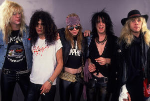Guns and Roses, Chicago, 19th Devember 1987. (Photo by Paul Natkin/WireImage)