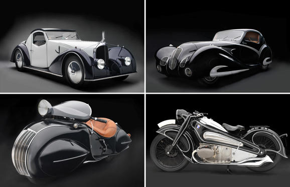 Slide 1 of 16: Sculpted in Steel: Art Deco Automobiles and Motorcycles, 1929–1940