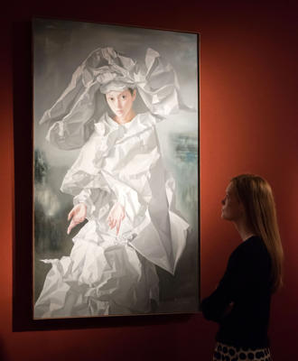 Art collection of Sting and Trudie Styler at Christie's, London, Britain - 17 Feb 2016 Zeng Chuangxing. Paper Bride, Grey Mood. Est: £30,000-50,000