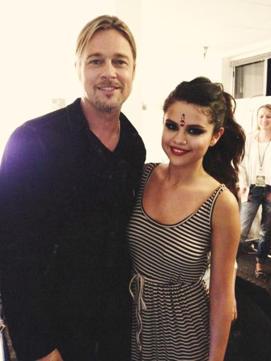 Brad Pitt y Selana Gómez