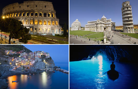 Dia 1 van 16: Top destinations in Italy