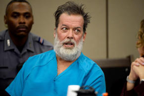 Robert Lewis Dear talks during a court appearance in Colorado Springs, Colo., on Dec. 9, 2015.