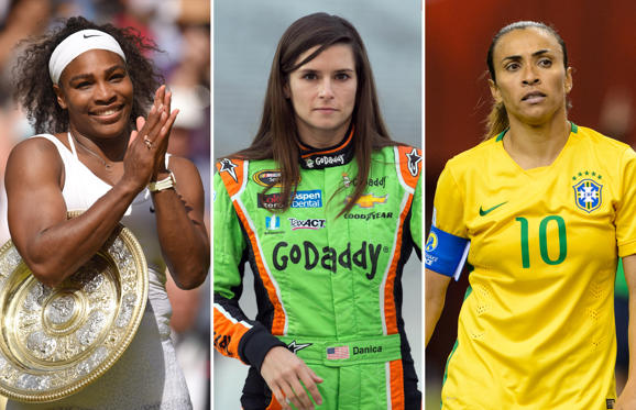 Slide 1 of 35: Most influential women in sport