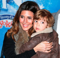 Jamie-Lynn Sigler with her son Beau.