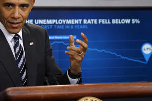 U.S. President Barack Obama delivers a statement on the economy in the press briefing room at the White House in Washington, February 5, 2016.