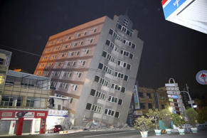 At least four buildings have collapsed in Taiwan after a 6.4-magnitude earthquak...