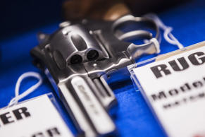 A Ruger revolver for sale at Maryland Small Arms Range on Oct. 6, 2015.