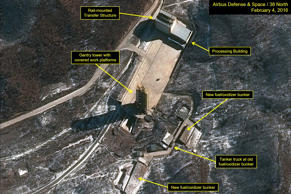 Airbus Defense & Space and 38 North satellite imagery from Feb. 4, shows the Soh...