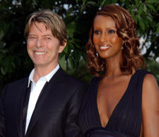 File photo dated 09/07/02 of David Bowie and his wife Iman
