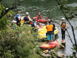 Police and Kayakers search the Kaituna river for a missing person.