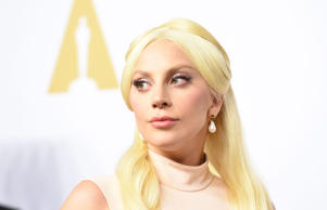 Lady Gaga at the Oscar Nominees lunccheon