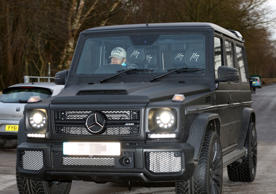 Manchester United players arriving for training at the AON Training Complex, Carrington, Manchester, Britain - 21 Dec 2015 Memphis Depay arrives in his car