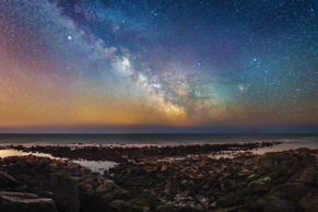 In this file photo, Milky Way can be seen above the Isle Of Wight in Britain.