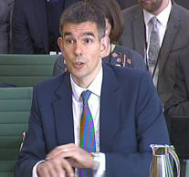 President of Google Europe, Middle East and Africa Matt Brittin gives evidence to the Commons public accounts committee at Portcullis House, London.