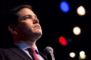 Republican presidential candidate Sen. Marco Rubio, R-Fla., speaks at a campaign...
