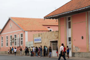 The exterior of Agostinho Neto Hospital, in Praia, Cape Verde, February 11, 2016.