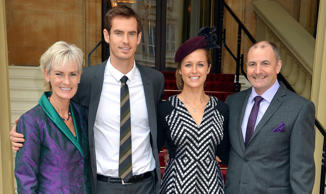 File photo of Andy Murray and Kim Sears with his parents Judy and Will