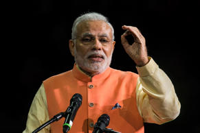 File: India's Prime Minister Narendra Modi speaks at Madison Square Garden in New York, during his visit to the United States, September 28, 2014.