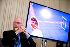 Laser Interferometer Gravitational-Wave Observatory (LIGO) Co-Founder Kip Thorne attends a news conference at the National Press Club in Washington, Thursday, Feb. 11, 2016, to announce that scientists they have finally detected gravitational waves, the ripples in the fabric of space-time that Einstein predicted a century ago.