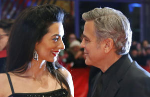 Amal and George Clooney at the Berlin Film Festival 2016