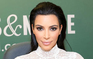 Kim Kardashian at a book signing in 2015