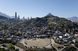 A general view shows the rough Cerro de la Campana neighbourhood, where the Barrio Esperanza (Hope neighbourhood) project is located, in Monterrey, Mexico, January 31, 2016.