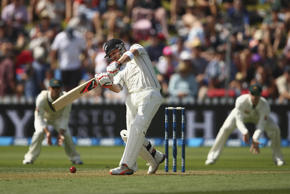 Brendon McCullum of New Zealand bats during day one of the Test match at Basin R...