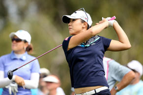 Lydia Ko in action at the New Zealand Women's Golf Open.