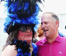 John Key at The Big Gay Out on February 14, 2016 in Auckland