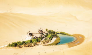 Crescent Moon Lake, Dunhuang, China