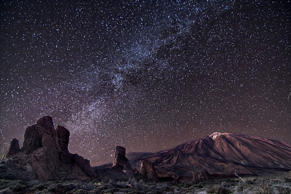 Milky Way over in Roques de Garcia Canadas del Teide.
