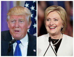 Donald Trump and Hilary Clinton are the front runners to contest the US presidential election in November.