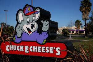 NEWARK, CA - JANUARY 16:  A sign is posted in front of a Chuck E. Cheese restaurant on January 16, 2014 in Newark, California. CEC Entertainment, operator of 577 kid-themed restaurants, announced today that it has agreed to be purchased by private equity firm Apollo Global Management for $1.3 billion.  (Photo by Justin Sullivan/Getty Images)