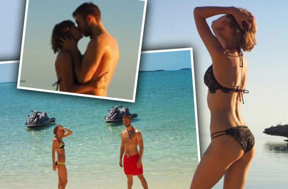 <strong>Taylor Swift</strong> and <strong>Calvin Harris</strong> recently have been dating a year, and they're hotter than ever! The duo went away for a hot beach vacation for their first anniversary, and RadarOnline.com has the sizzling photos.