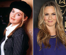 Alicia Silverstone, then and now