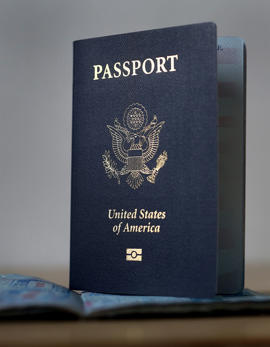 A U.S. Passport is pictured in New York, NY, Tuesday, April 23, 2013.