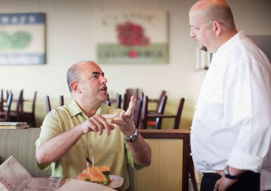 Angry customer complaining to chef